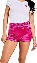 GUESS Womens Jamaica Metallic High-Waist Shorts
