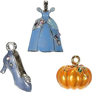 Hallmark Keepsake Christmas Ornament 2019 Disney Ball, Cinderella Set of 3