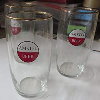 AMSTEL LIGHT DRINKING GLASS- 24 GLASSES! 8 oz beer glasses!