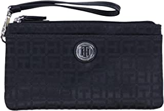 390f473bb8 Tommy Hilfiger Tommy Hilfiger Wristlet Wallet Bag Black Canvas Double Zip