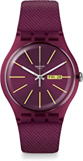 Swatch Winery Quartz Red Dial Ladies Watch SUOR709