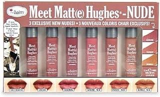 theBalm Meet Matte Hughes-NUDE 6 piece Mini Liquid Lipstick Set, Long Lasting, Lightweight, Matte Finish, 1 Oz