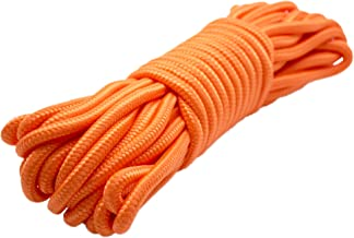Emergency Zone 9mm (3/8 inch) Nylon Braided, 50 Foot, Multi-Purpose Rope. Available in 1, 2, 3, 4, 40 Packs. Black, Green, White, Red, Orange, Camouflage Color Options …