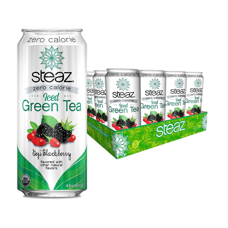 Steaz Organic Sales of SALE items from Boston Mall new works Zero Calorie Iced Green Tea F 16 Goji Blackberry
