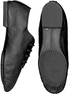Starlite Basic Black Split Suede Sole Jazz Shoe