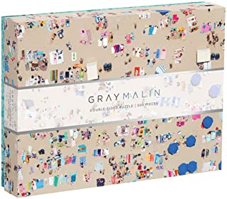 "Galison Gray Malin 2-Sided Jigsaw Puzzle, The Beach, 500 Pieces - 24"" x 18"", Double-Sided Puzzle with Vibrant Artwork, Perfect for Family Fun"
