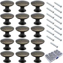 NewZC Ladenknoppen, paddenstoeltype, knopgreep, 30 mm, ronde meubelknoppen van zinklegering, ladenknoppen, vintage, voor k...