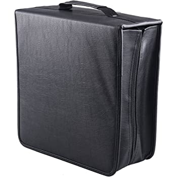 Fasmov 400 Removable Disc CD/DVD Binder DVD Wallet Case Using Metal Ring Binder, Black