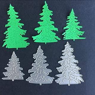Ogquaton 3 Unids Árbol de Navidad Troqueles De Corte De Metal DIY Scrapbooking En Relieve Álbum Tarjeta de Papel Craft Die Tool Conveniente Y Práctico