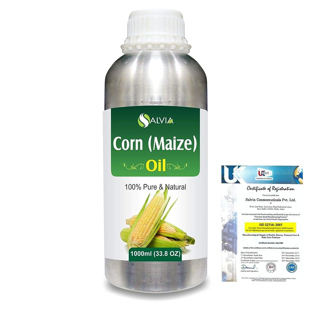 交通絡み合い政治家のCorn (Maize) (Zea mays)100% Natural Pure Carrier Oil 1000ml/33.8fl.oz.