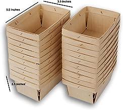 Jumping Daisy Pint Rectangular Vented Wooden Berry Baskets - Set of 20