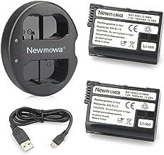 Newmowa EN-EL15 Batería de Repuesto (2-Pack) y Kit de Cargador Doble para Micro USB portátil para Nikon EN-EL15 EN-EL15a Nikon 1 V1, D600, D610, D750, D800, D800E, D810, D850, D7000, D7100,D7200