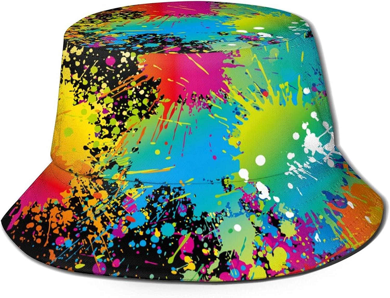 NLRESAX Women's Print Bucket Hat Reversible Double-Side Wear Hat Packable Hats for Beach Travel Outdoor