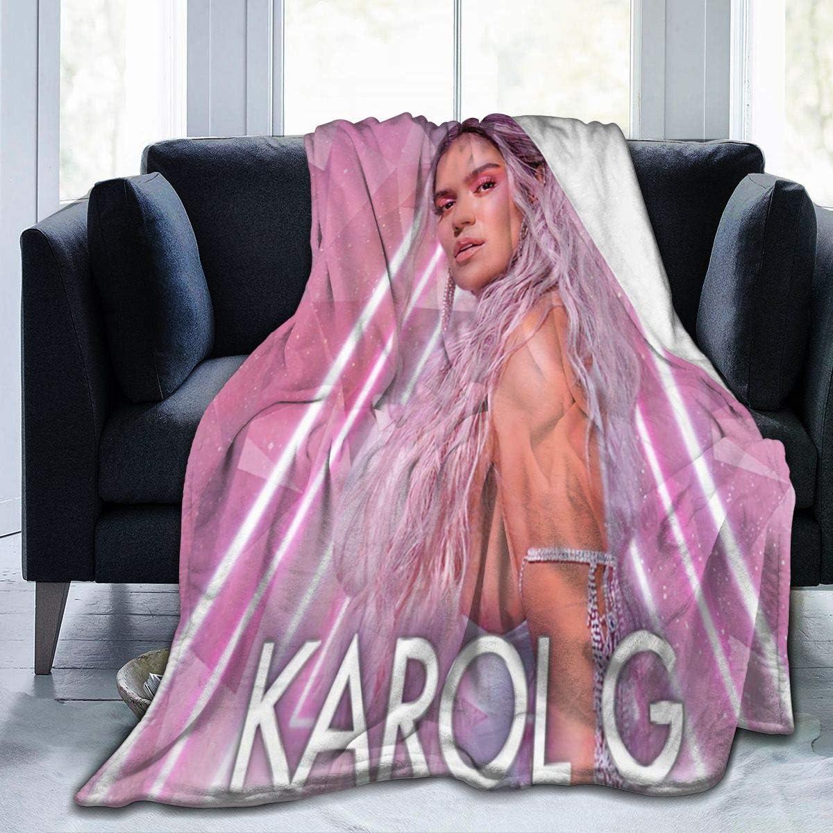 日時指定 18%OFF JimmyLSahao Karol G Fleece Blankets Warm Soft Blan Flannel Super