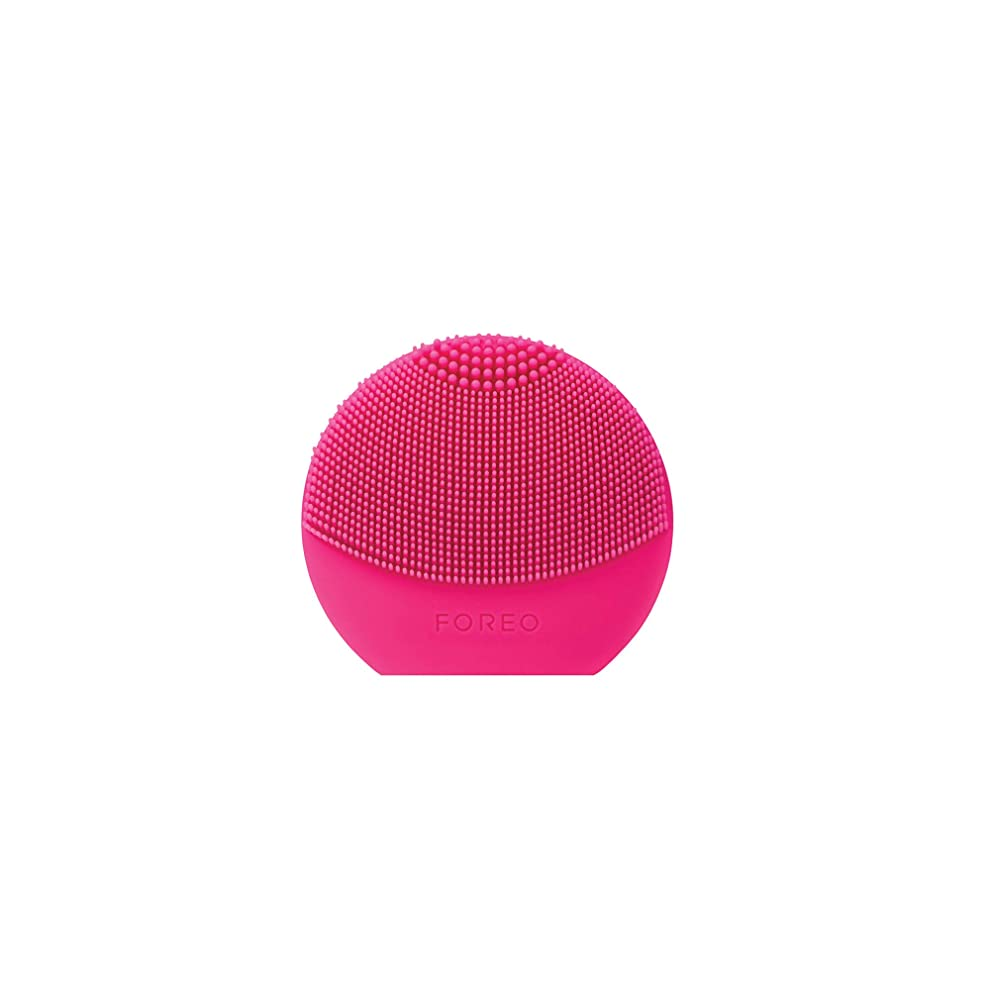 一致顔料気分FOREO LUNA play plus フクシア シリコーン製 音波振動 電動洗顔ブラシ 電池式