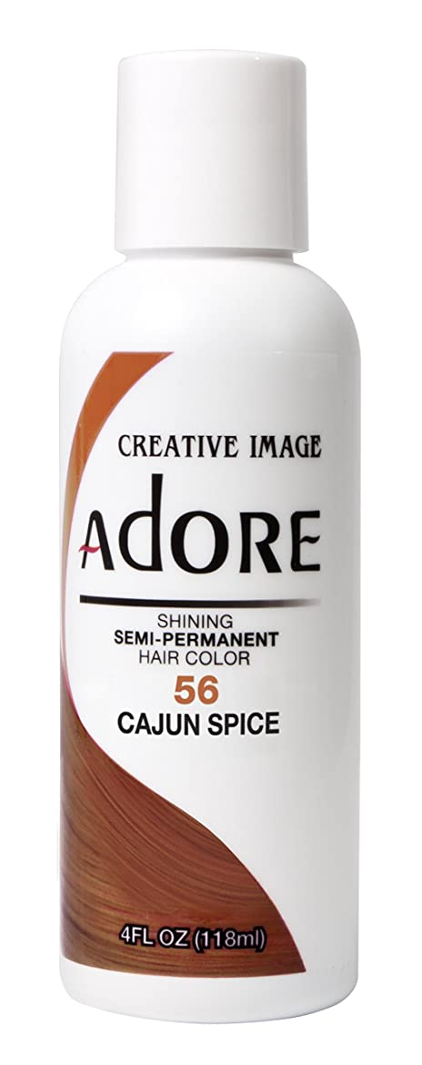 ひどいつまずく哀ADORE SEMI-PERMANENT HAIR COLOUR CAJUN SPICE(56)-118ml by ADORE [並行輸入品]