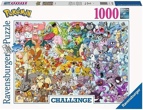 Ravensburger - Puzzle Adulte - Puzzle 1000 p - Pokemon - Challenge Puzzle - Adultes et enfants dès 14 ans - Puzzle de...