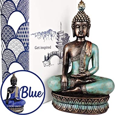 """25DOL Buddha Statues for Home. 13"""" Buddha Statue (The Moment of Enlightenment). Collectibles and Figurines, Meditation Decor,"""