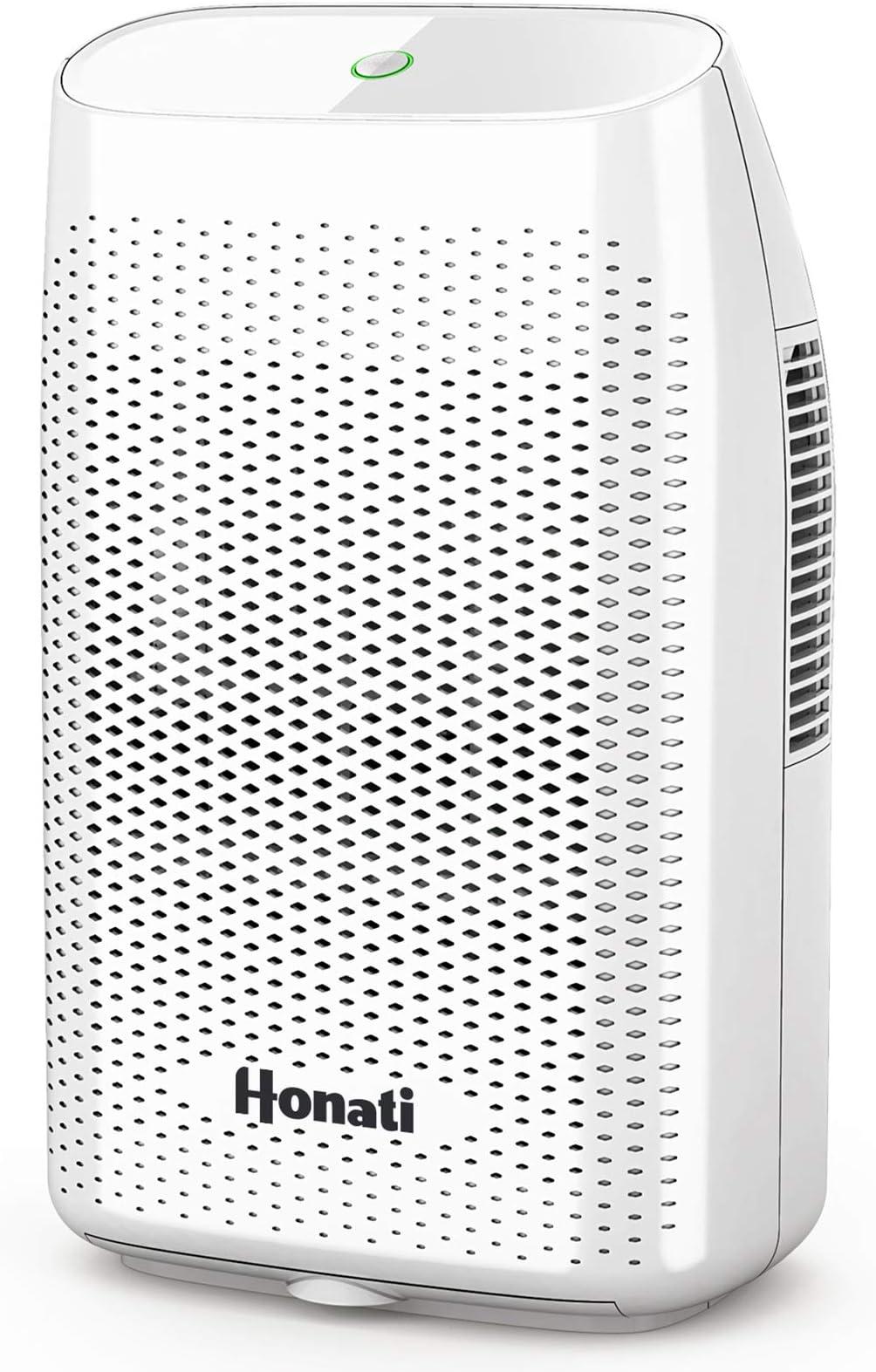 Home Dehumidifier, 2500 Cubic Feet (269 sq ft) 2000ml Ultra Quiet Small Portable Dehumidifiers with Auto Shut Off for Basement, Bathroom, RV, Office