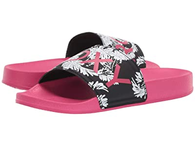 Roxy Kids Slippy (Little Kid/Big Kid) (Pink/Pink) Girls Shoes