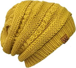 ALLYDREW Winter Thick Knit Beanie Slouchy Beanie for Men & Women