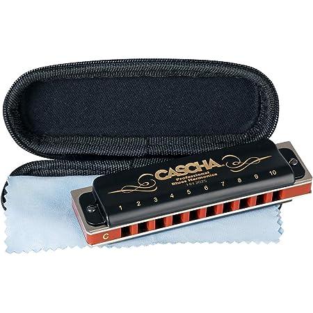 Cascha Harmonica en do majeur Débutant & Avancé, Harmonica diatonique 10 trous de haute qualité, superbe son, Rangement & entretien idéals avec étui souple & chiffon de soin Blues Harmonica
