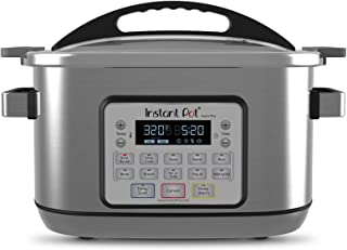 Instant Pot 8 Qt Aura Pro Multi-Use Programmable Multicooker with Sous Vide, Silver (Renewed)