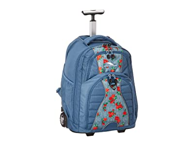 High Sierra Freewheel Wheeled Backpack (Denim Rose/Graphite Blue) Backpack Bags
