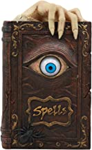 Ebros Witchcraft Sorcery Lifelike Evil Eye Book of Spells Money Bank Figurine Decor Statue 8.5