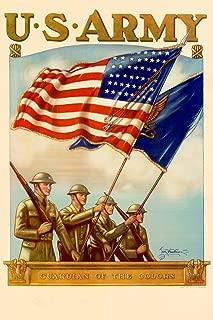 WPA War Propaganda US Army Guradian of The Colors Recruiting Cool Wall Decor Art Print Poster 12x18