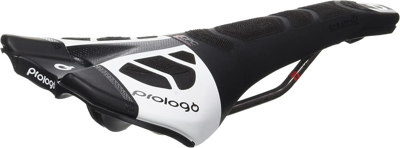 Prologo Scratch 2大人用ミックスバイクサドル、ブラック/ホワイト