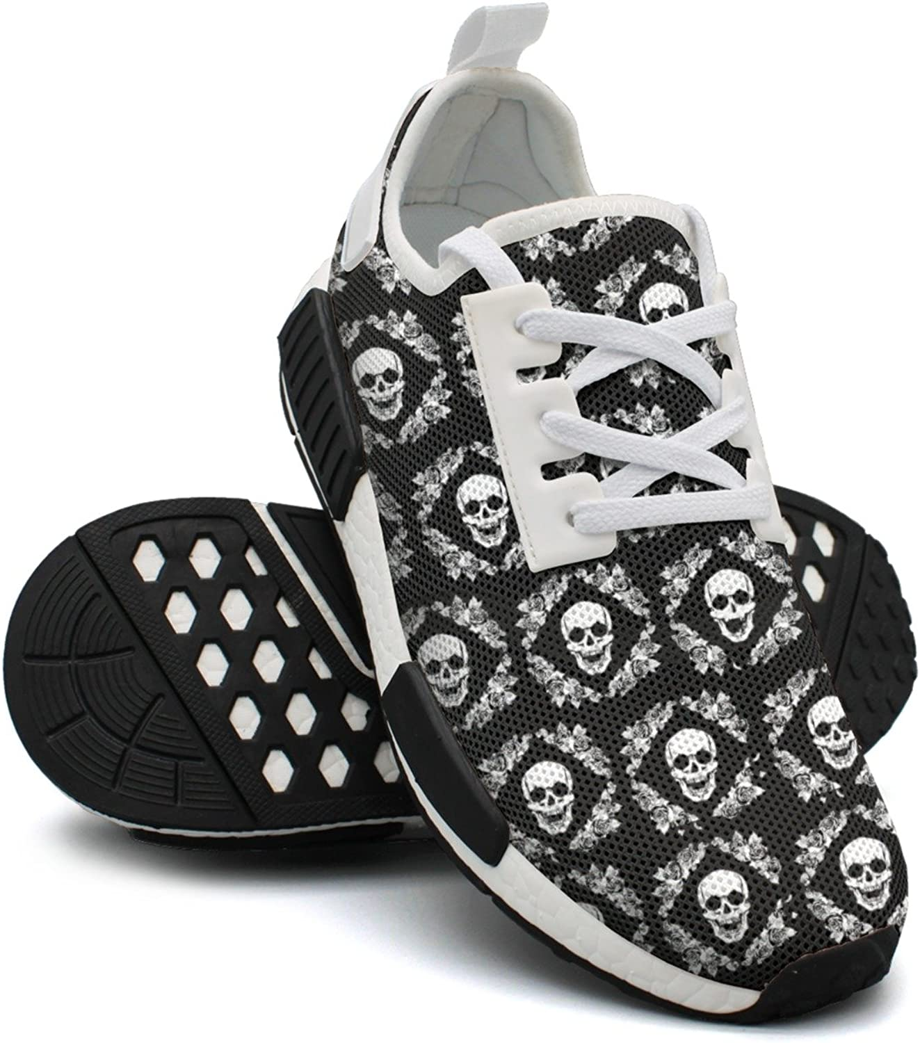 Skull in pinks Women's Unique Lightweight Sneakers shoes Gym Outdoor Walking shoes