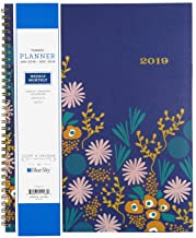 Blue Sky Snow & Graham 2019 Weekly & Monthly Planner, Flexible Frosted Cover, Twin-Wire Binding, 8.5
