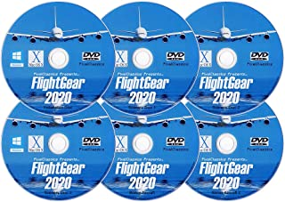 FlightGear 2020 Realistic Flight Simulator Plane & Helicopter Sim | Deluxe Edition Flight Gear 600+ Aircraft & 20,000 Real Airports | DVD CD Discs for Microsoft Windows 10 8 7 Vista PC & Mac OS X