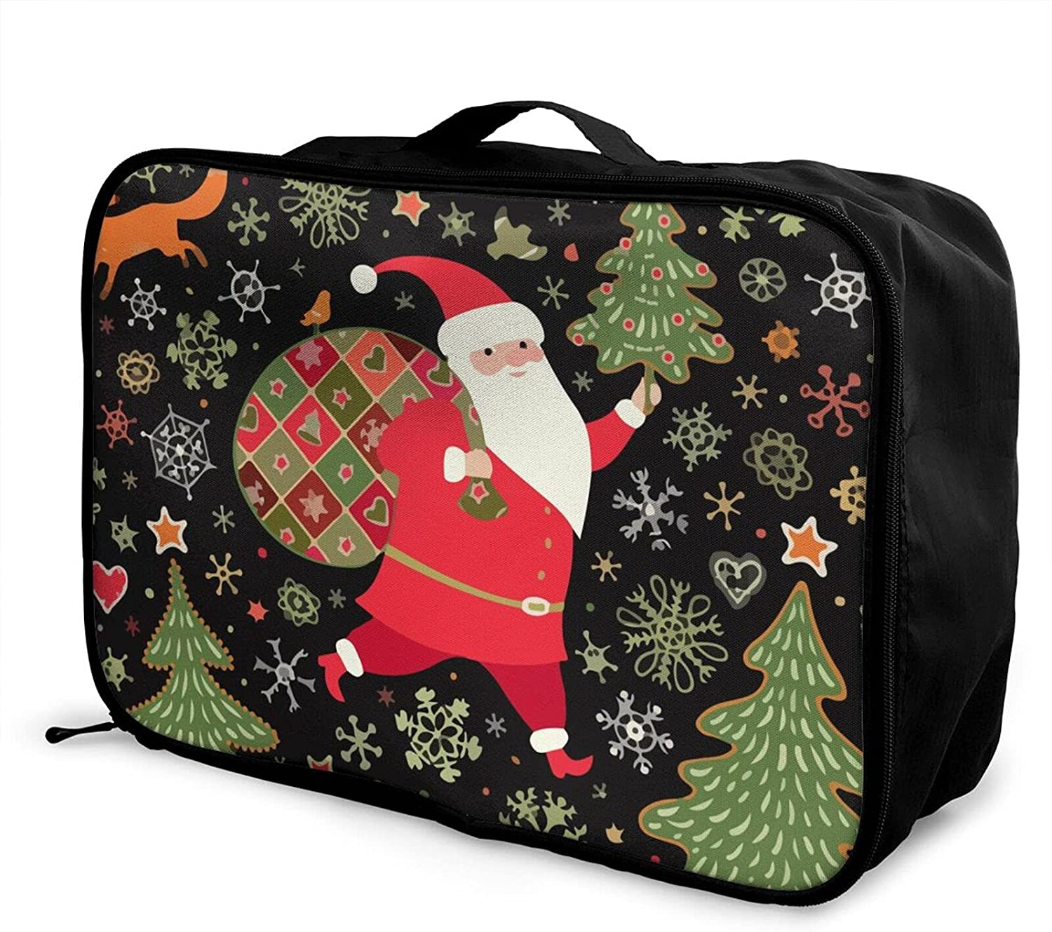 Foldable Travel Bag Tote Christmas Funny Brand Cheap Sale Venue Claus Santa To Inexpensive Carry-On