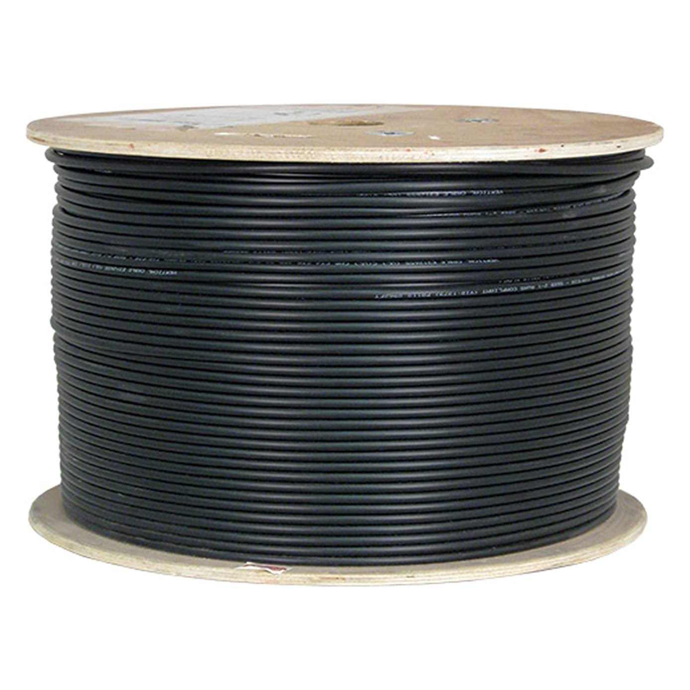 Vertical Cable Cat6, Shielded Waterproof Tape, Direct Burial, 1000ft, Black, Bulk Ethernet Cable
