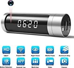 $58 Get Hidden Spy Camera Clock Cam, WiFi 1080P Aluminum Alloy IP Network Camera Alarm with Built-in 1000mAh Power Bank/ 150 Wide Angle/iOS & Android APP or Pc Remote Control/Night Vision/Motion Detection