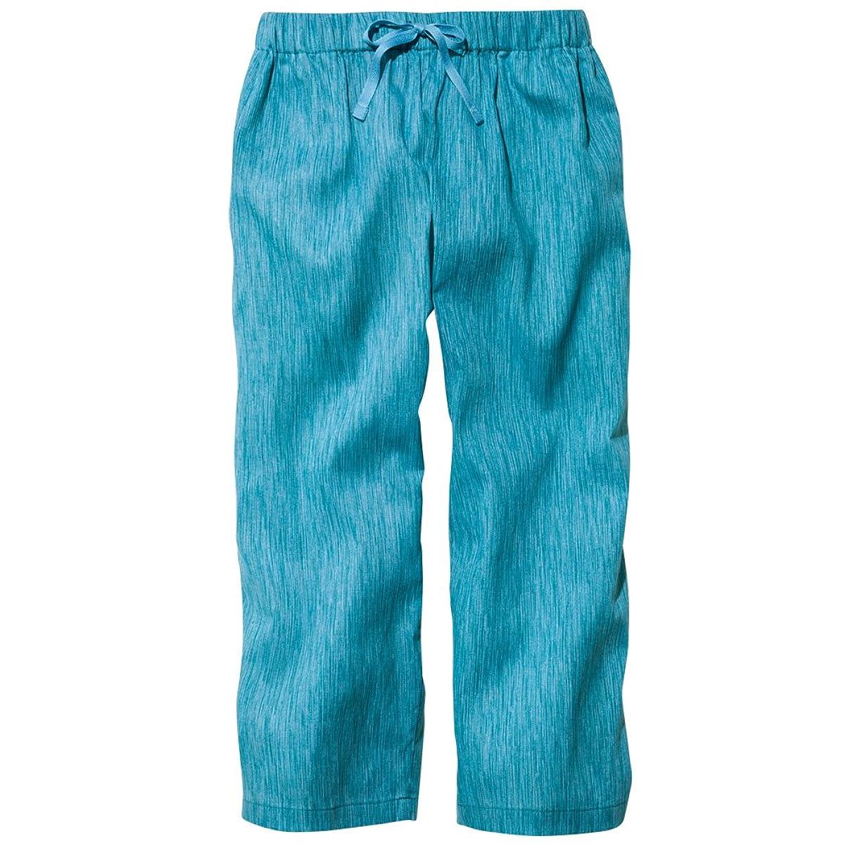 爵華氏ワーディアンケースセルヴァン 高島ちぢみ ポケット付ゆったりステテコ 女性用 ターコイズ 3L