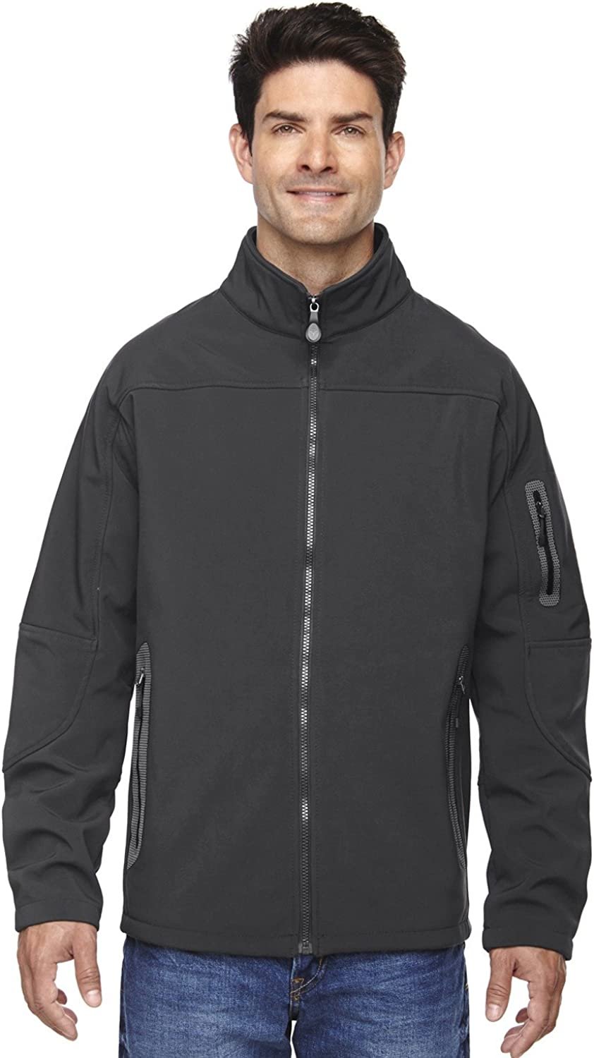 North End Mens Soft Shell Technical Jacket (88138) -GRAPHITE 156 -5XL