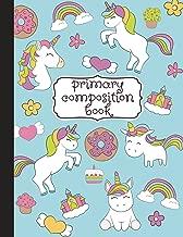 Primary Composition Book: Primary Composition Notebook K-2, Kindergarten Composition Book, Unicorn Notebook For Girls, Handwriting Notebook (Top Line, ... For Kindergarten, 1st, & 2nd Grades, 8.5