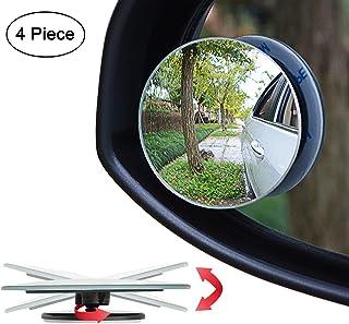 "Ampper Upgrade 2"" Round Blind Spot Mirrors, 360 Degree Adjustabe HD Glass Convex.."