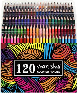 120 Colored Pencils - Premium Soft Core 120 Unique Colors (No Duplicates) Color Pencil Set for Adult Coloring Books, Artist Drawing, Sketching, Crafting