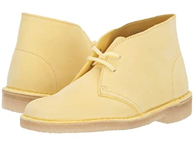 Clarks Desert Boot (Pale Yellow Suede) Women