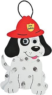 Fun Express - Fingerprint Fire Safety Dalmatian Craft - Craft Kits - Ornament Craft Kits - Foam - 24 Pieces