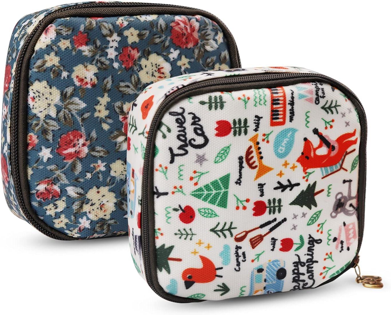 Tuciyke Sanitary Napkin Storage Bag Limited time trial price S Cloth Cotton 2pcs Superior