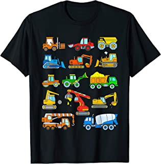 Construction Excavator Shirt for Boys Girls Men and Women