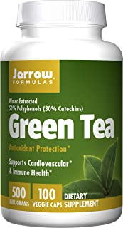 Jarrow Formulas Green Tea Organic, Supports Cardiovascular & Immune Health, 500 mg, 100 Tabs