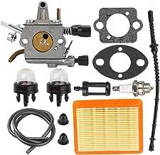 Hilom FS250 Carburetor for STIHL FS120 FS120R FS200 FS200R FS020 FS202 TS200 FS250R FS300 FS350 4134 120 0653 4134 120 0603 Drill Auger BT120 BT120C BT121 SP200 String Trimmer Weedeater Brush Cutter