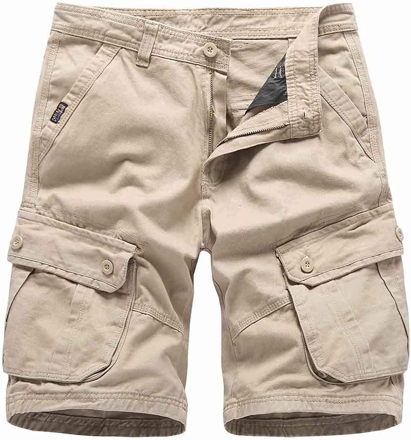 Basoteeuo Mens Cargo Shorts Casual Summer Lightweight with Multi Pockets