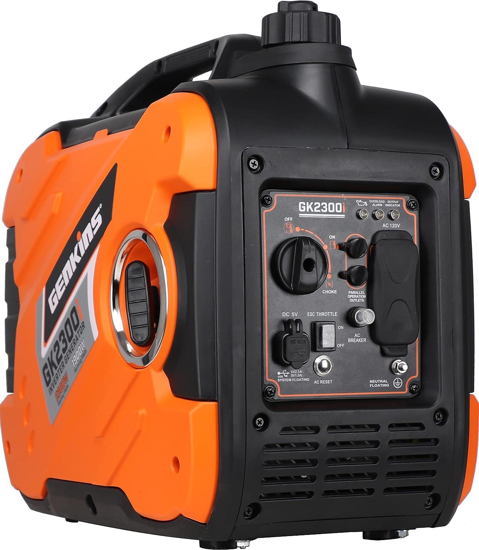 Genkins 2300 Watt Portable Inverter Generator Ultra Quiet Gas Powered RV Ready CARB EPA Complied Ship to 50 States & Puerto Rico